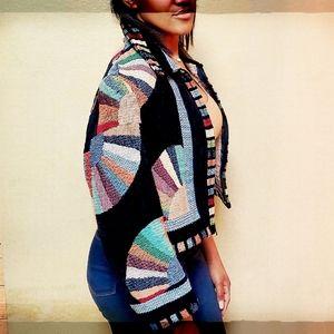 Heirlooms Multi Colored Zipper Sweater